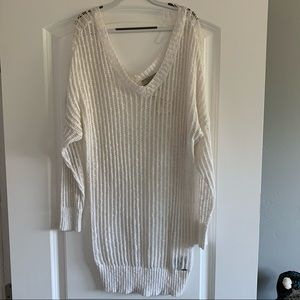 New with Tags Guess White Crochet Sweater - Medium